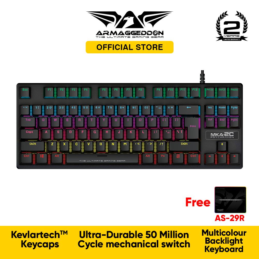 Armaggedddon MKA-2C Psychraven Mechanical Gaming Keyboard Free RGB Mousemat Singapore