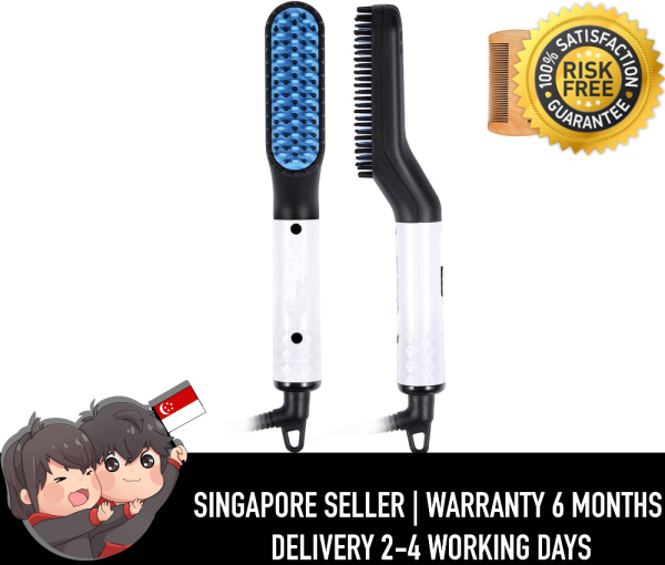 Buy Men Hair Straightening Hair Brush Multifunctional Hair Styler Electric Hot Comb and Beard Straightening Brush Hair Straightening Comb Used with Dual Voltage 120-240V Portable Travel Singapore