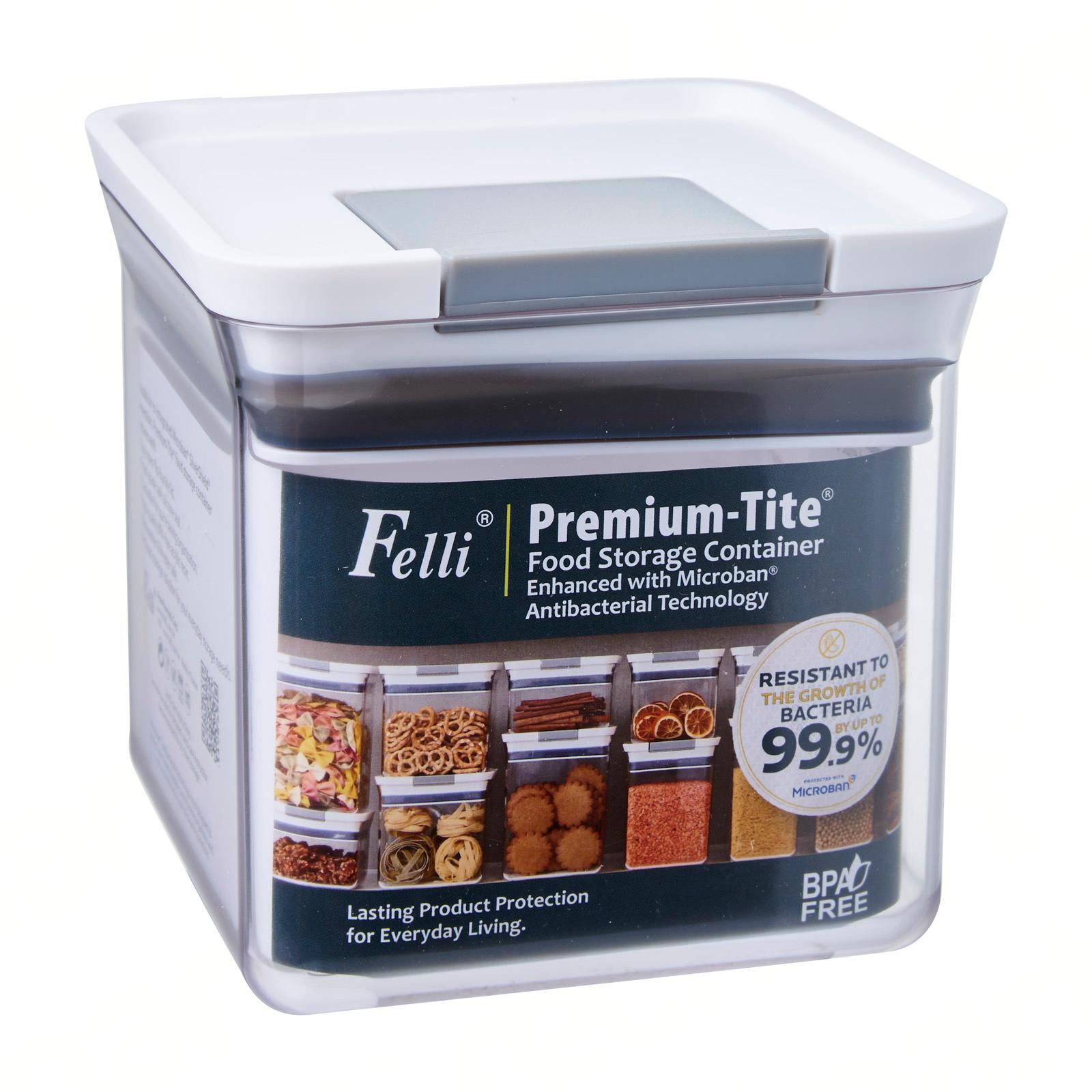 Felli Premium Tite Food Storage Container Enhanced with Microban Antibacterial Technology 1.0L