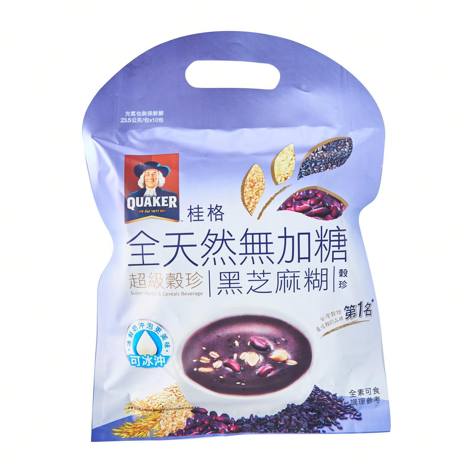 QUAKER Super Herbs and Cereals Beverages No Sugar Sesame Paste