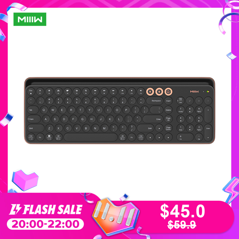 Miiiw Bluetooth Dual Mode Keyboard 104 Keys 2.4GHz Multi Compatible Wireless Portable Keyboard