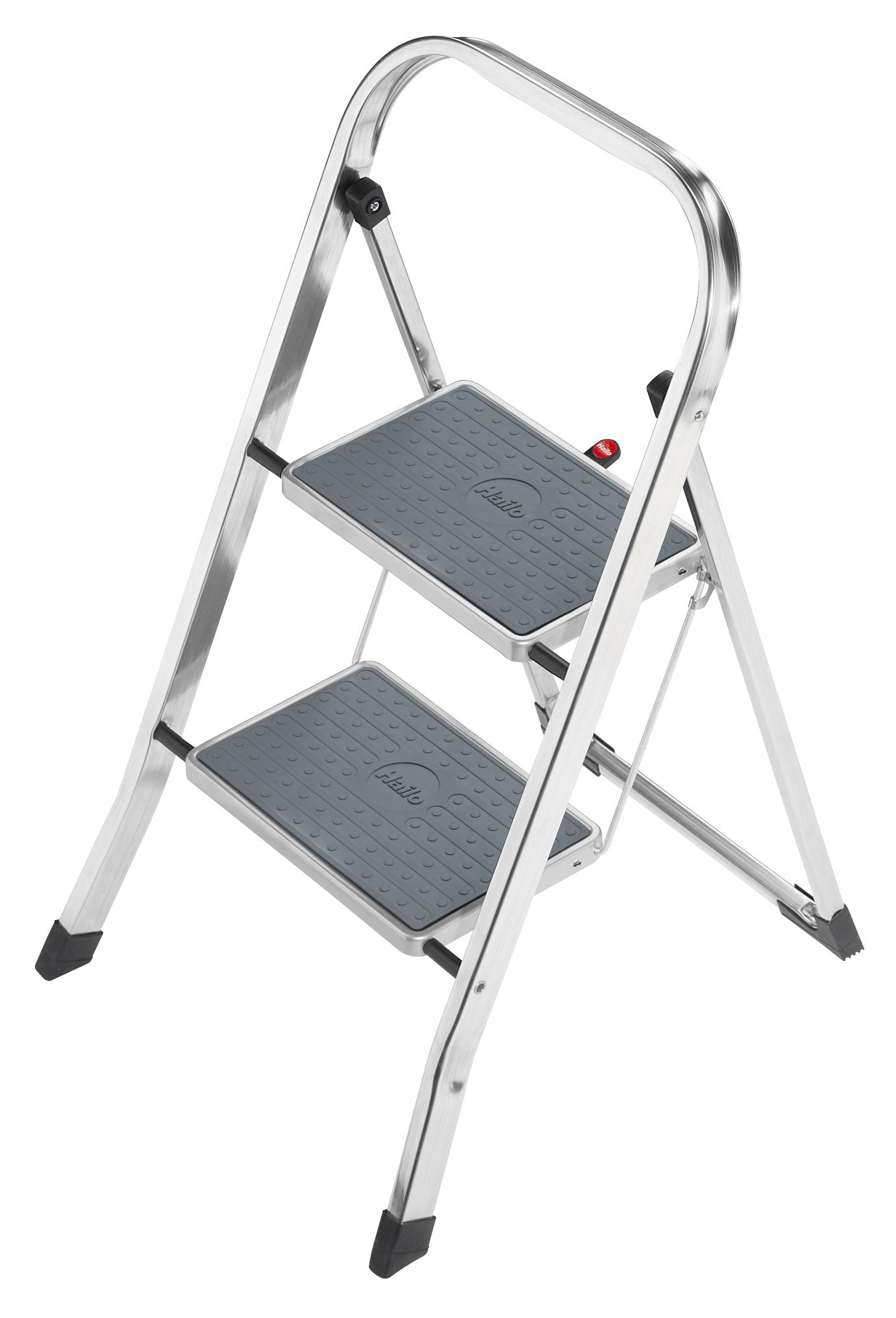 Hailo K30 Folding Ladder 2 to 3 Steps Sturdy/Stable/Steady Aluminium Light Weight Step Stool