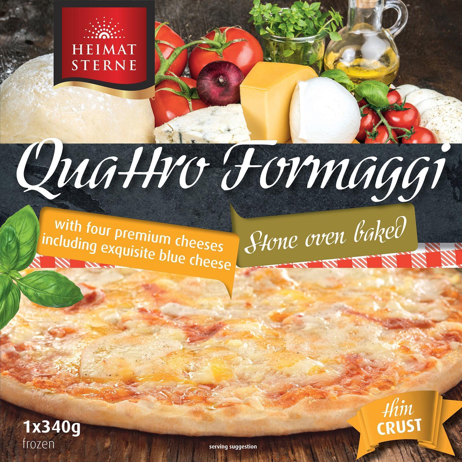 Heimatsterne Quattro Formaggi Thin Crust Pizza - Frozen By Redmart.