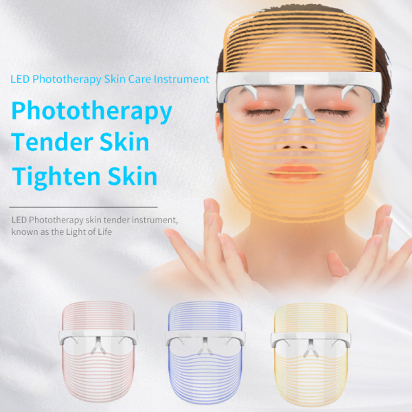 Buy LED Beauty Mask | LED Beauty Light Shield | LED Light Therapy PDT | Red Light | Blue Light | Anti-Wrinkle LED Mask | Acne Treatment | Brightening | Anti-aging Singapore