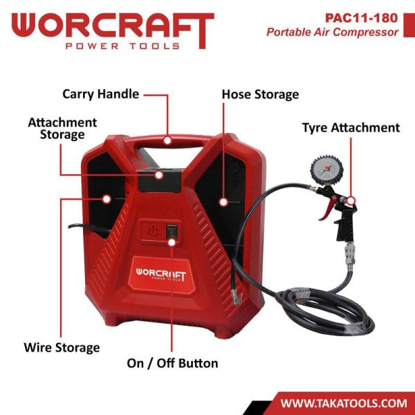 Worcraft Electric Portable Air Compressor
