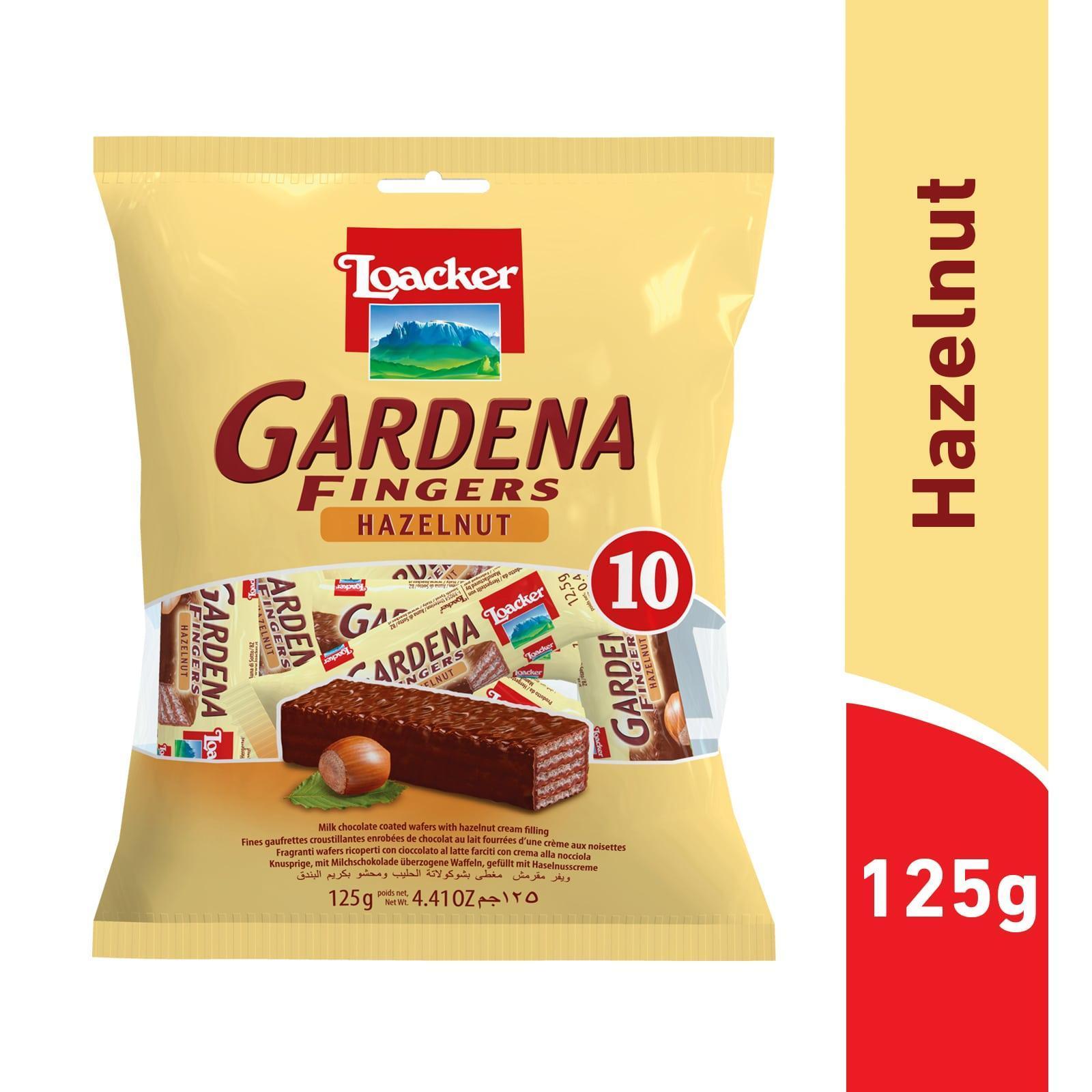 Loacker Gardena Finger Hazelnut Wafer Cookies