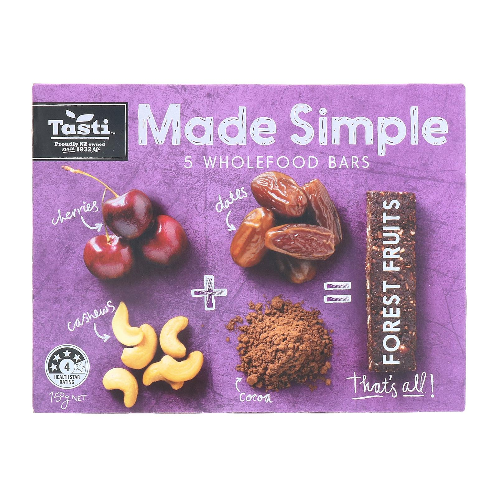 Tasti Made Simple Forest Fruits Bars- by Optimo Foods