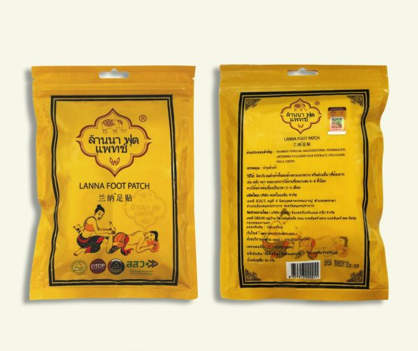 Buy 6 Pack Original Thailand Lanna Foot Patch (Total 30 Pair) Singapore