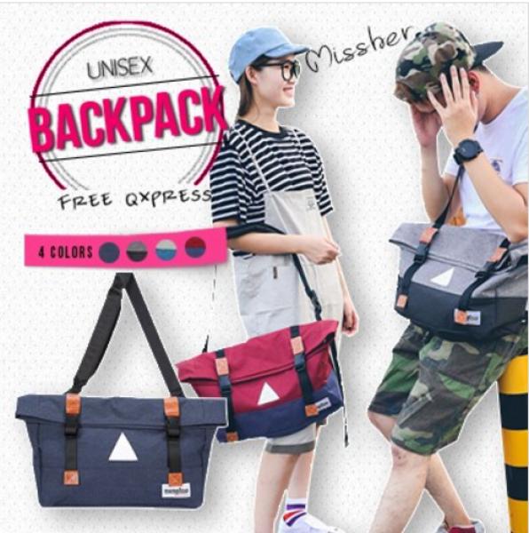 MISSHER ★Unisex Korean Shoulder bag Backpack School Bag backpack Men bag Lady Bag BPBCB09N