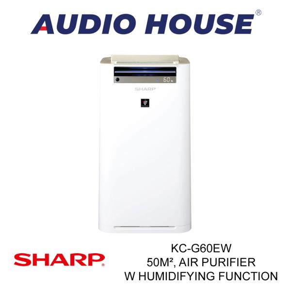 SHARP KC-G60EW 50m² AIR PURIFIER W HUMIDIFYING FUNCTION ***1 YEAR SHARP WARRANTY*** Singapore