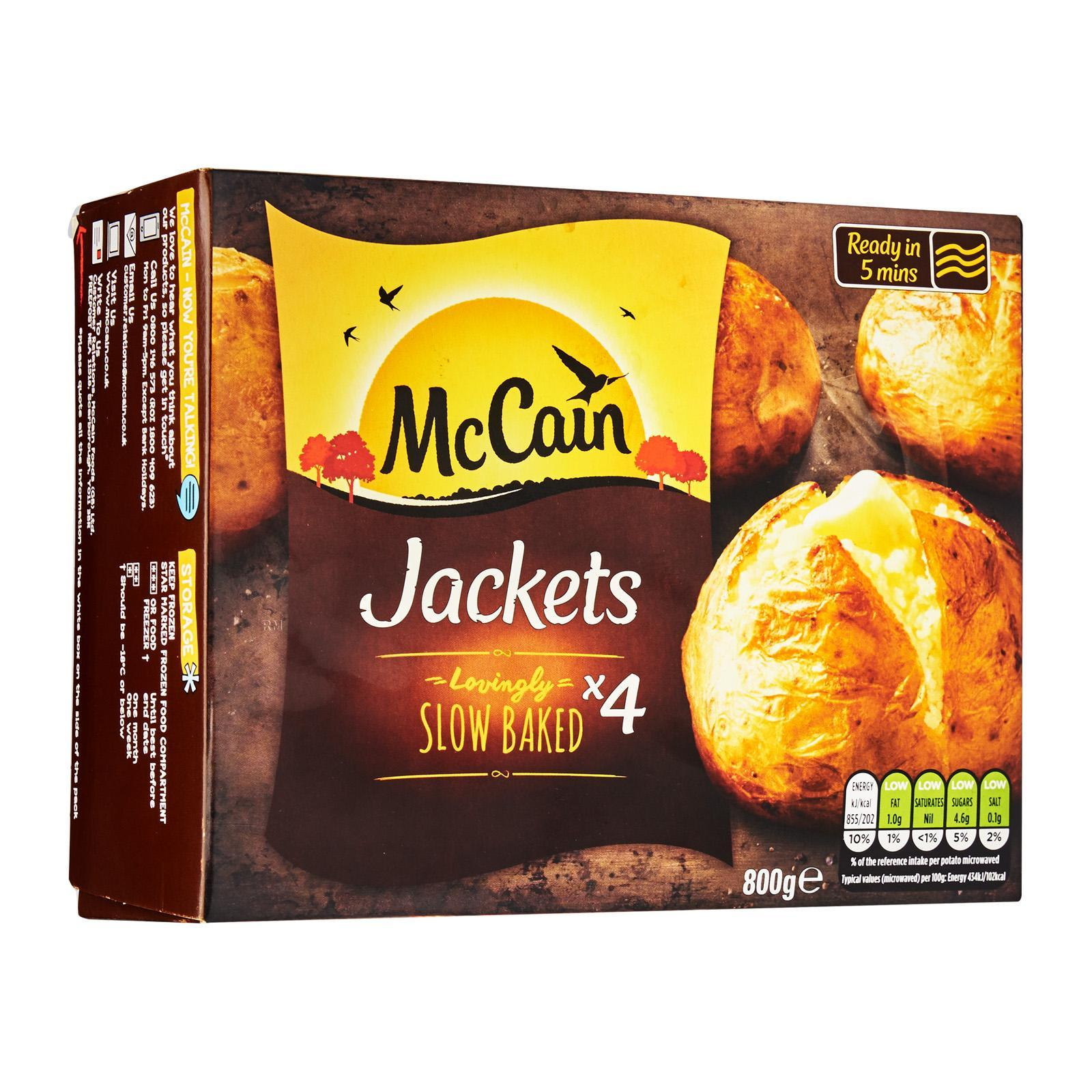 McCain Ready Baked 4 Pack Jackets - Frozen