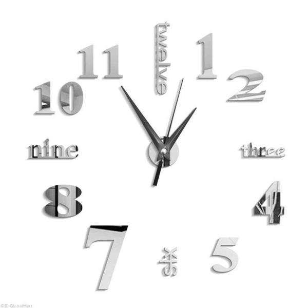 Nơi bán 3D Large Wall Clock Mirror Sticker Big Watch Sticker Home Decor Unique Gift DIY