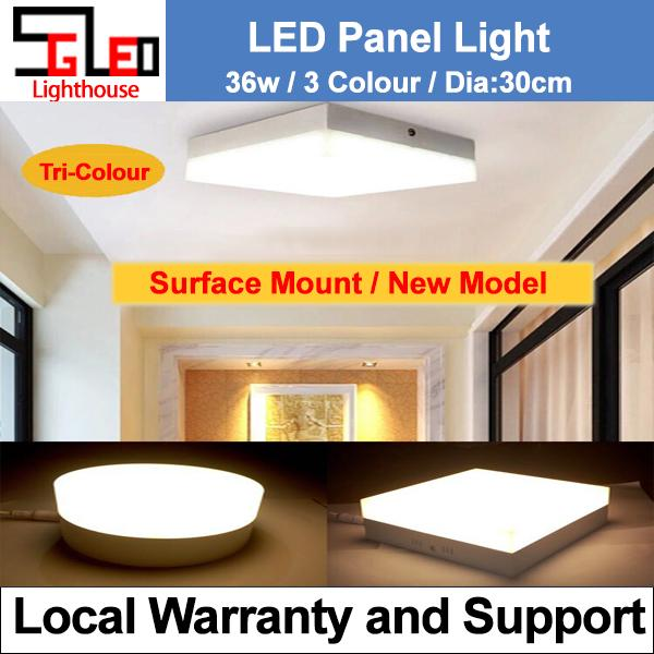 LED Ceiling Light Panel Light 36w Square 3 Colour