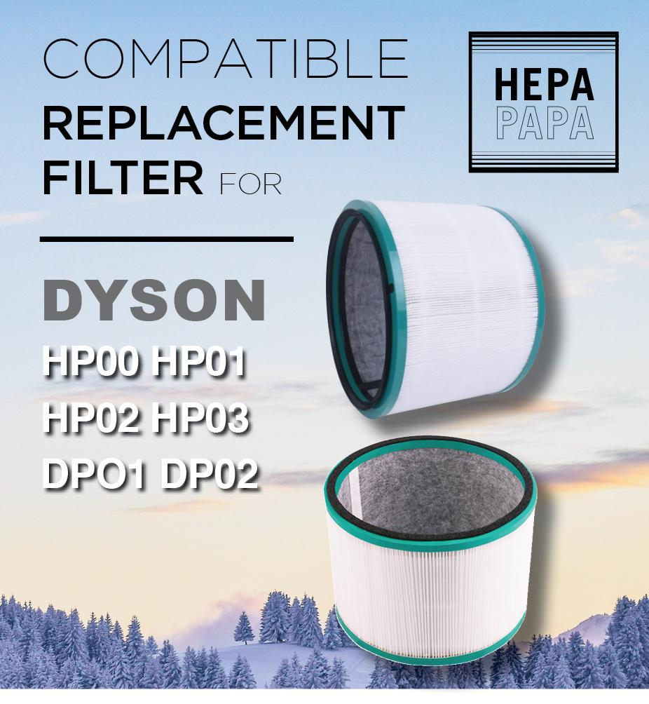 Compatible Replacement Filter For Dyson Hp00, Hp01, Hp02, Hp03, Dp01, Dp02 By Hepapapa.
