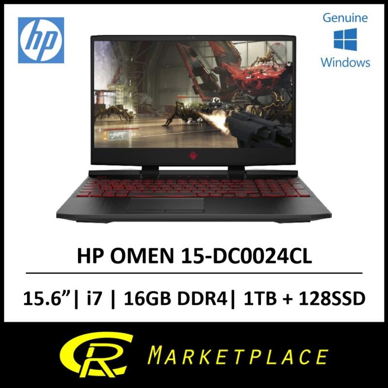 HP OMEN 15-DC0024CL 15.6 IPS Intel Core i7-8750H RAM 16GB DDR4 Storage 128GB SSD + 1TB SATA Graphics NVIDIA® GeForce® GTX 1050 Ti