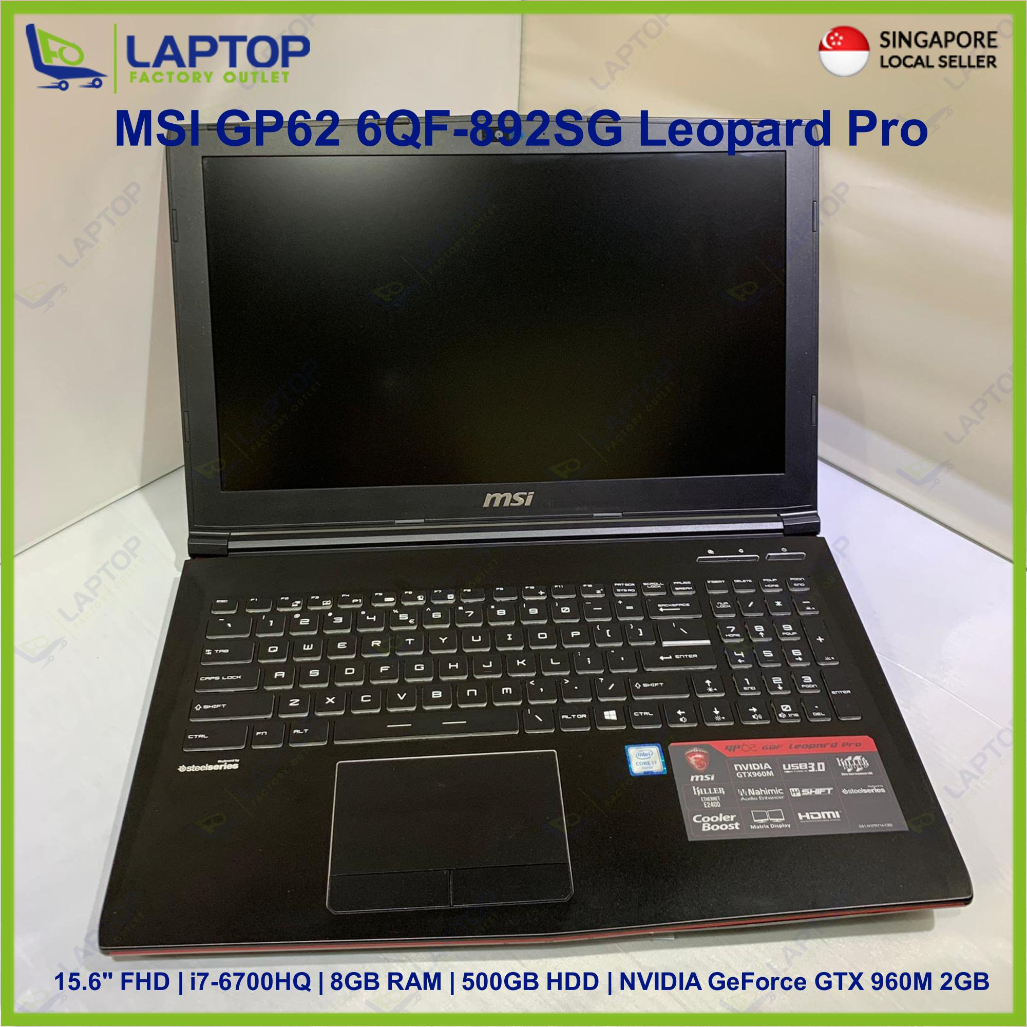 MSI GP62 6QF-892SG Leopard Pro(i7-6/8GB/500GB) Premium Preowned [Refurbished]