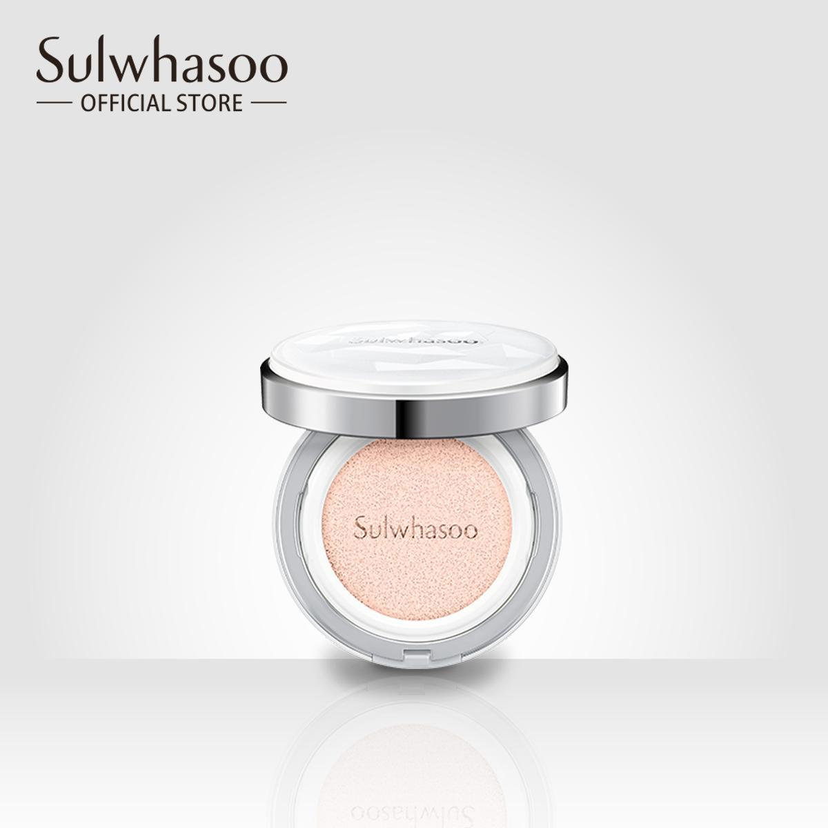 Kết quả hình ảnh cho Cushion Sulwhasoo Snowise Brightening #21 Natural Pink (+ Refill)