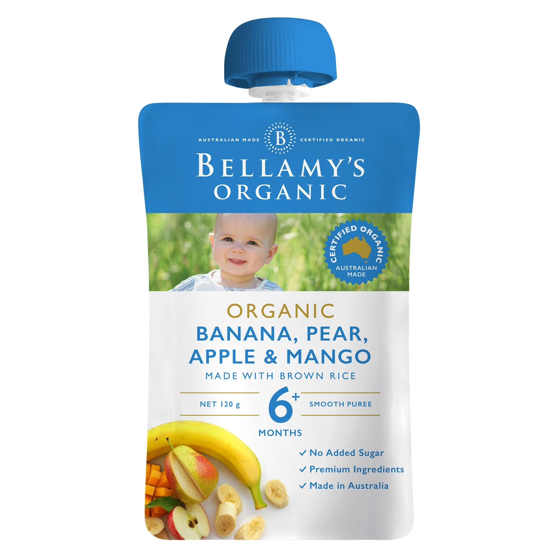 Bellamys Organic Banana, Pear, Apple & Mango By Lazada Retail Bellamys Organic.