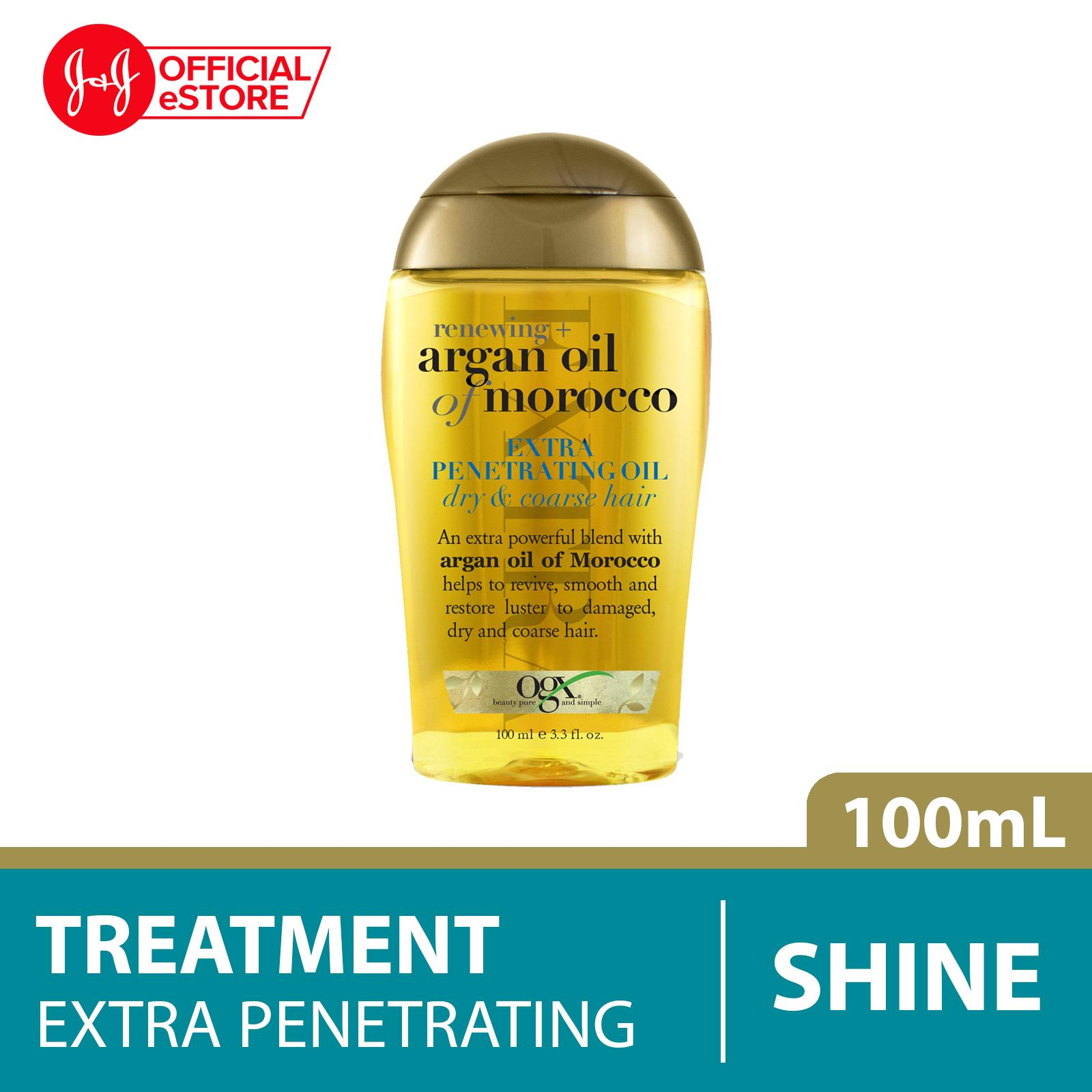 Ogx Renewing Argan Oil Morocco Extra Penetrating Oil 100ml By Johnson & Johnson Official Store.