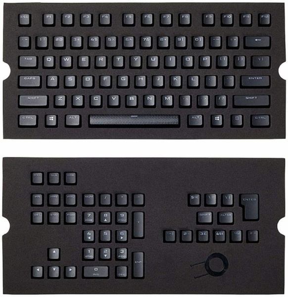 Corsair Gaming CH-9000235-WW PBT Double-shot Keycaps Full 104/105-Keyset - Black Singapore