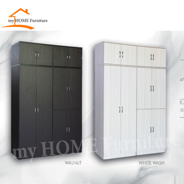 (Delivery As Usual Within 2- 3 Working Days) 5ft 10 DOORS WARDROBE / OPEN WARDROBE (Free Delivery and Installation)