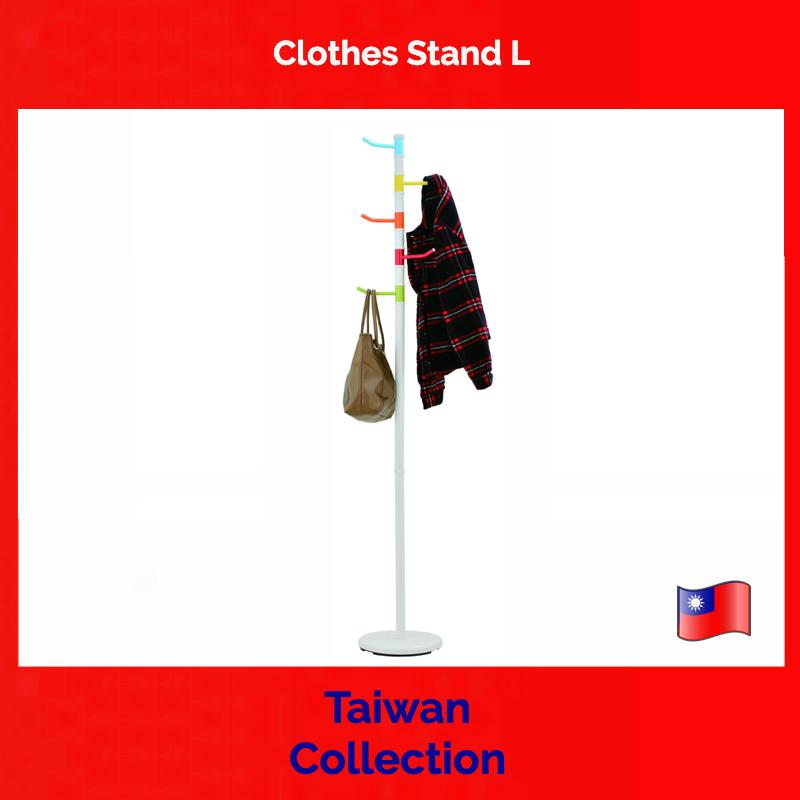 TAIWAN COLLECTION, Clothes Stand L - clothes hanger, floor stand, pole, coat, hat, rack, lobby, living room, office, multi-colour
