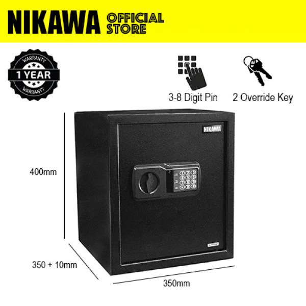 NIKAWA Standard Safe Box NEK400  for home safe, office safe, digital safe(H400 x W350 x D350+10) (39.78litres)