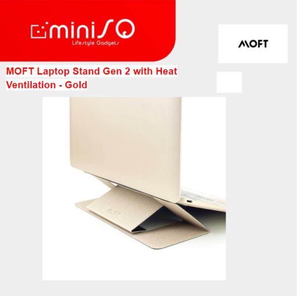 MOFT Laptop Stand Gen 2 with Heat Ventilation - Gold