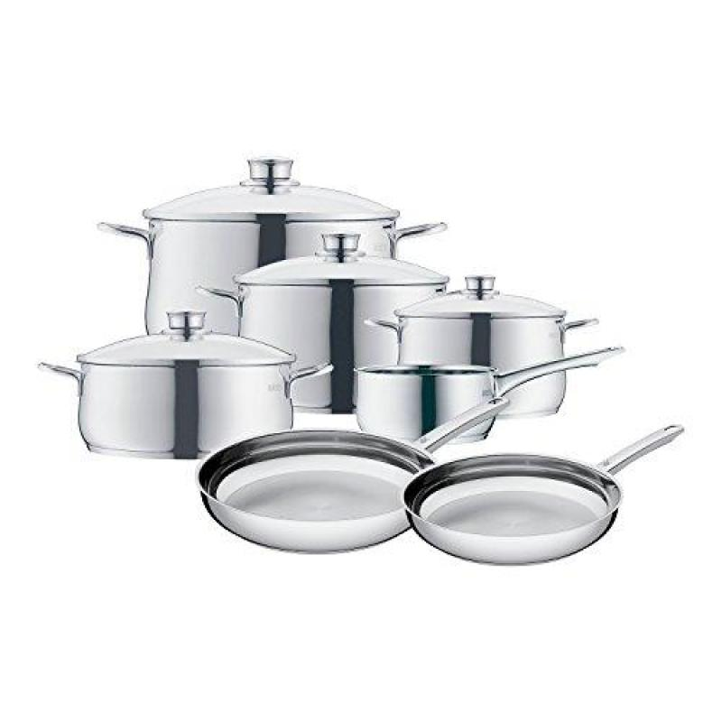 WMF 8400001725 11 Piece Stainless Steel Cookware Set, Silver Singapore