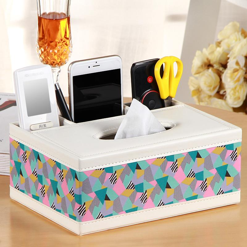 European Style Multi-functional Tissue Box Living Room Teapoy Table Remote Control Storage Box Household Paper Extraction Box Simple Paper Crystal Box