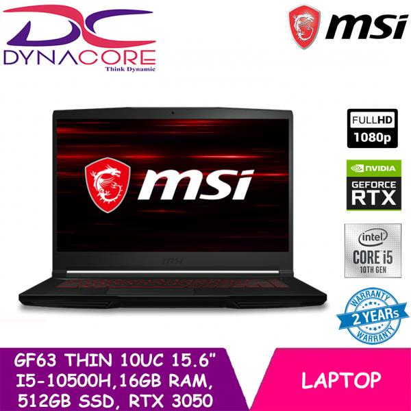 DYNACORE - MSI GF63 Thin 10UC 15.6″ ( i5-10500H | 16GB RAM| 512GB SSD | RTX3050 Max-Q | WIN 10 HOME)