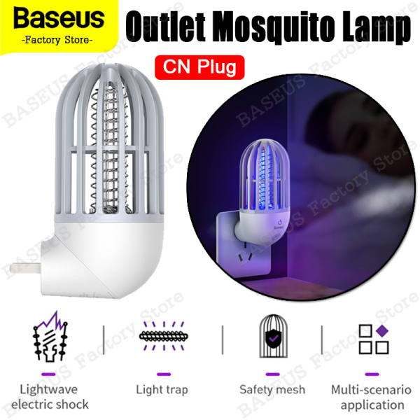Baseus Linlon Outlet Mosquito Lamp Safe and Health for The Elderly and Children Mosquito Killer CN EU Plug Quite Mosquito Control Sleep Deeply Till Dawn