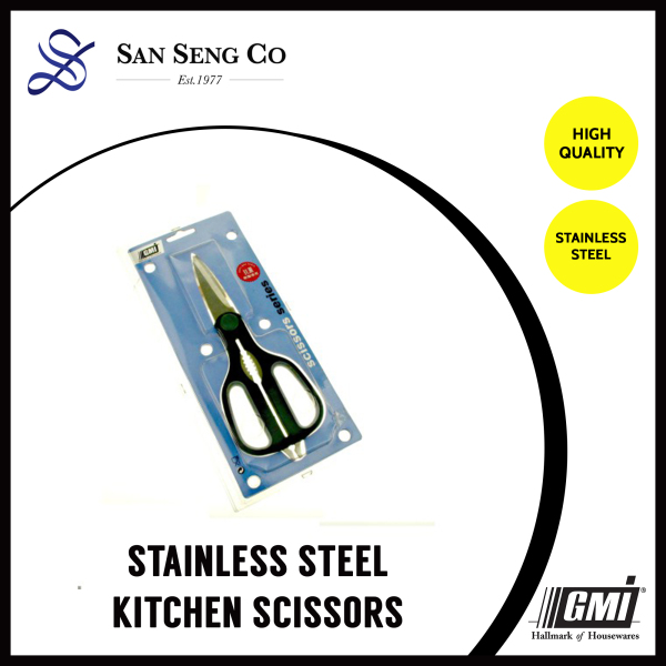 San Seng GMI S/S KITCHEN SCISSORS Cut Home Stainless Steel Kitchen Multifunction Strong Chicken Duck Bone Scissors