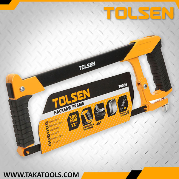 Tolsen Hacksaw Frame Aluminium with TPR Handle- 30054