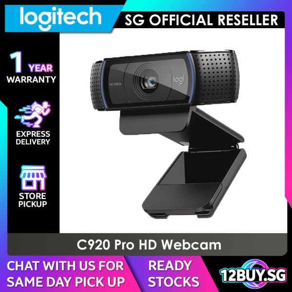 Logitech C920& C920e HD Pro Webcam with stereo audio 12BUY.SG Express Delivery