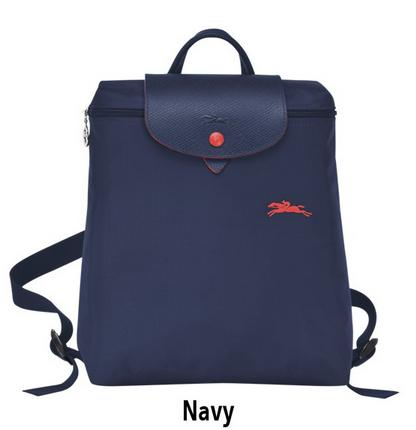 Longchamp Le Pliage Club 1699 Backpack - Navy Blue 47a4350300531