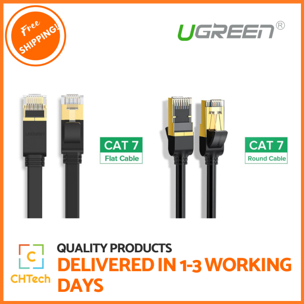 Ugreen Ethernet Cable RJ45 Cat7 Lan Cable UTP RJ 45 Network Cable for Cat6 Compatible Patch Cord for Modem Router Cable