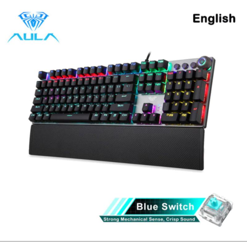 AULA F2058/F2088 Mechanical Gaming Keyboard with Multimedia Knob, l LED Backlit keyboard Singapore