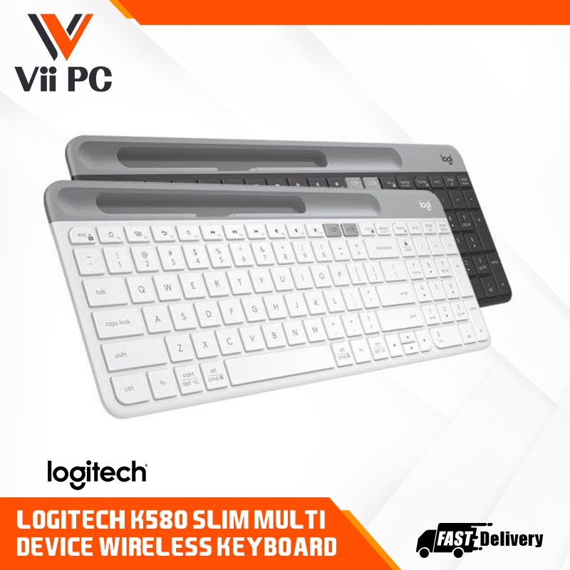 Logitech K580 Wireless Bluetooth Keyboard, K580 Slim Multi-Device Keyboard, Bluetooth Low energy technology Singapore