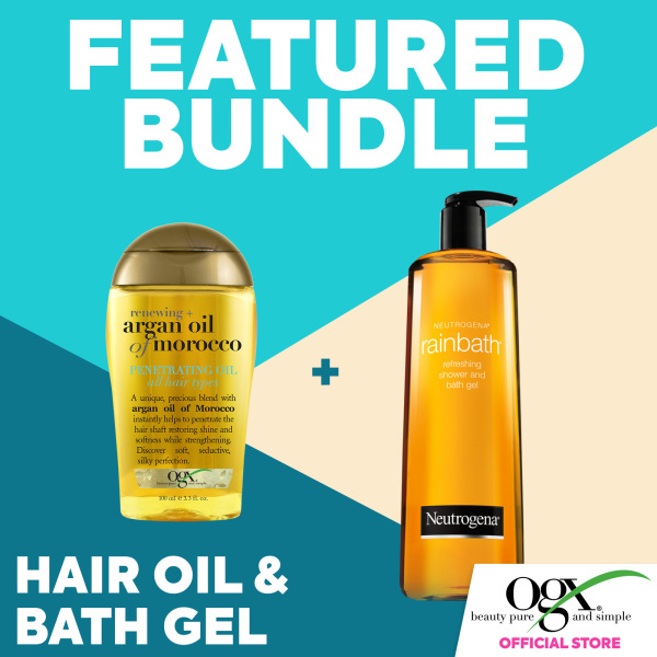 Buy OGX Renewing Argan Oil Morocco Penetrating Oil 100ml + Neutrogena Rainbath Refreshing Shower and Bath Gel 946ml Singapore