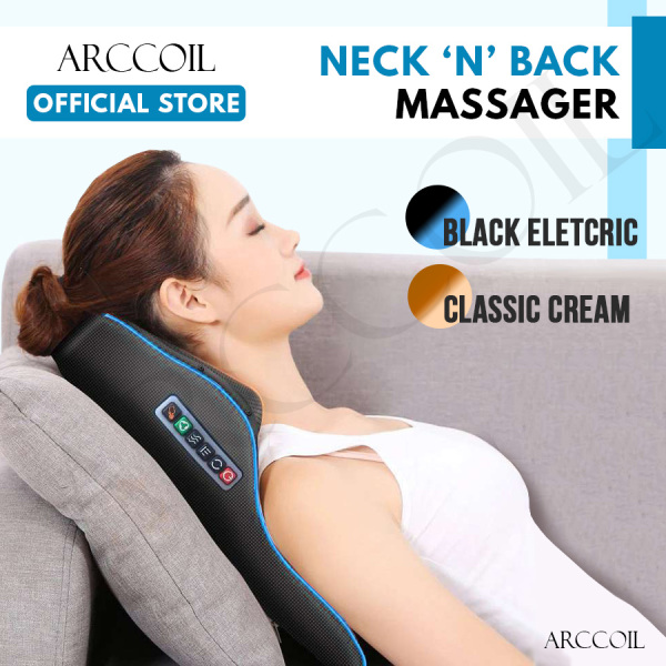 Buy Arccoil Electric Massage Pillow Car Home Use Shiatsu Kneading Massager Cushion with Heating for Neck Body Singapore