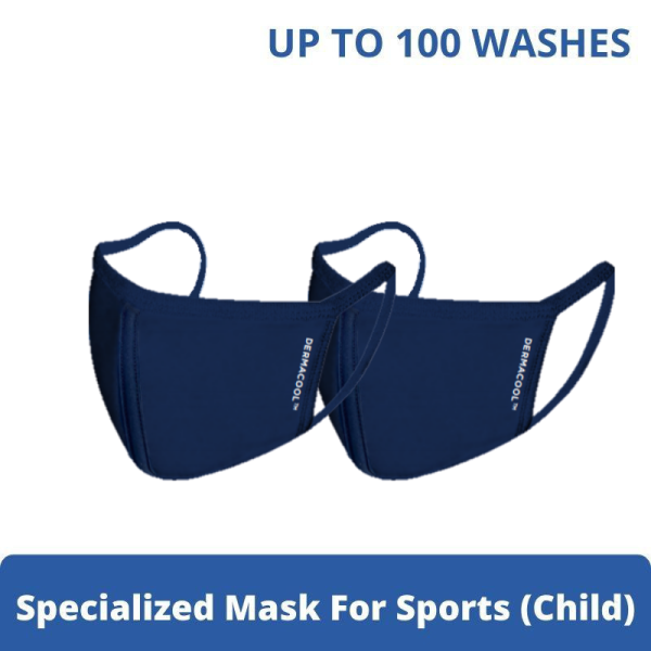 Buy [Bundle of 2] Dermacool Reusable 3-Ply Sports Mask (Small S size) 2pcs [Aurigamart Authorized Distributor] Singapore