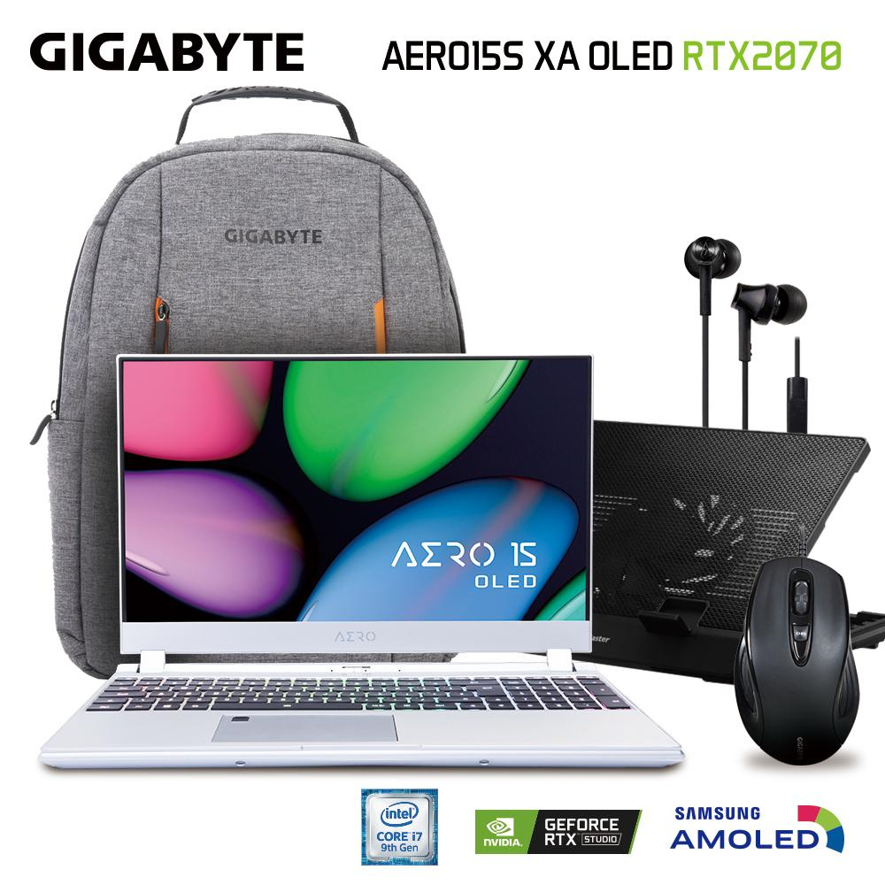 GIGABYTE AERO 15S OLED XA (i7-9750H/16GB SAMSUNG DDR4 2666 (8GB*2)/GeForce RTX 2070 GDDR6 8GB Max-Q/512GB INTEL 760P PCIE SSD/15.6 Thin Bezel Samsung 4K UHD AMOLED/WINDOWS 10 PROFESSIONAL/SILVER) [Ships 2-3 days]