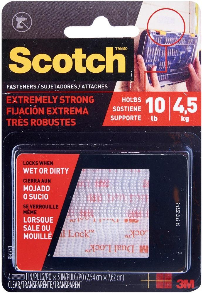3M SCOTCH EXTREME FASTENER CLEAR 1 X 3 RF6730