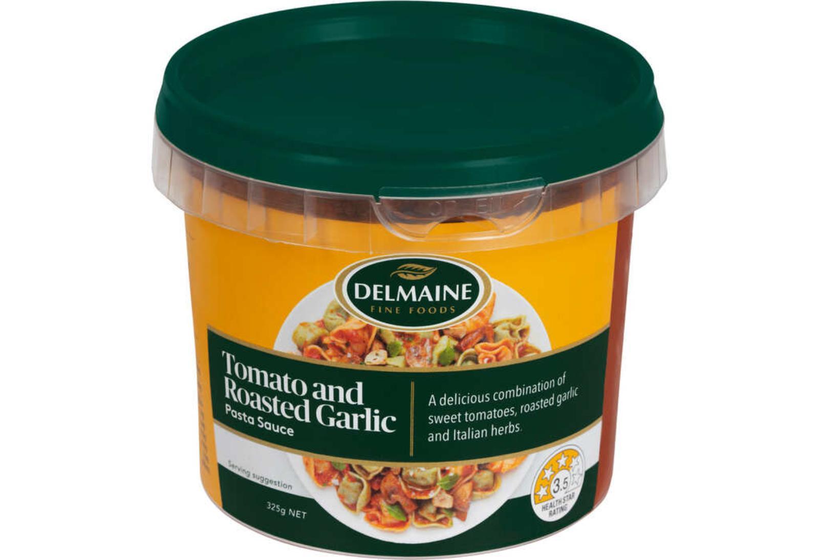 Delmaine Tomato And Roasted Garlic Fresh Pasta Sauce