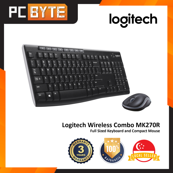 Logitech MK270R Wireless Combo - Full Sized Keyboard and Compact Mouse Singapore