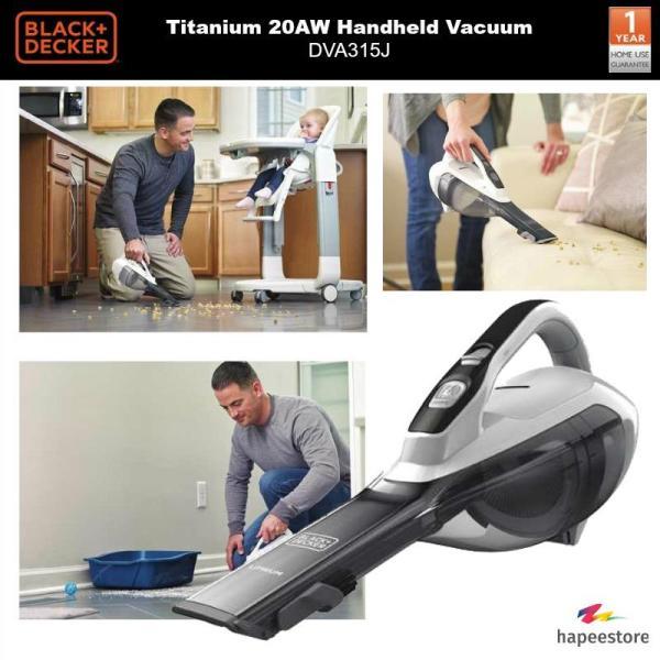 Black And Decker 10.8V Titanium 20AW Handheld Vacuum Cleaner - DVA315J (1 Year Warrant) Singapore