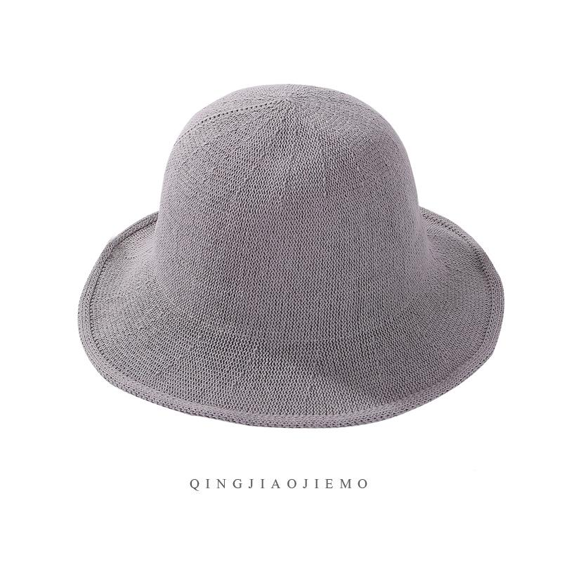 30493ee68 Cotton Linen Topee Bucket Hat Female Japanese-style Knitted Bucket Hat  South Korea Sun Protection Hat Foldable Literature And Art Billycock Zi Xia