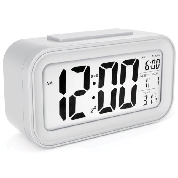 CEEBON Digital Smart Alarm Clock with Auto-Sensor Nightlight, Large LCD Display with 3 Settings Alarm Clock for Bedroom, Snooze Nightlight Backlight, Digital Alarm Clock for Home, Alarm Clock for Students, Digital Clock for Table