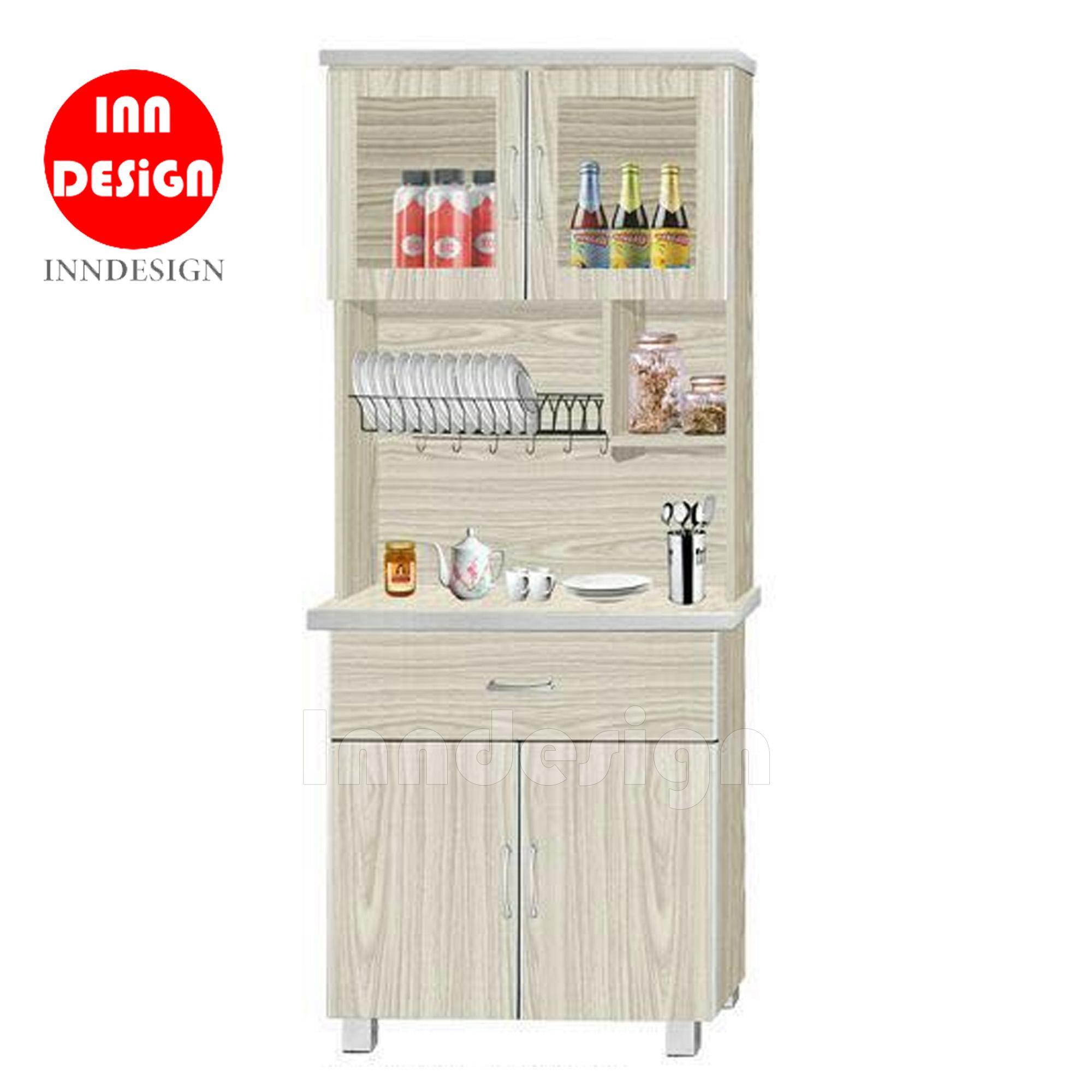 Don 2 Doors Stove Kitchen Cabinet + Top Storage (with Ceramic Tiles Top)